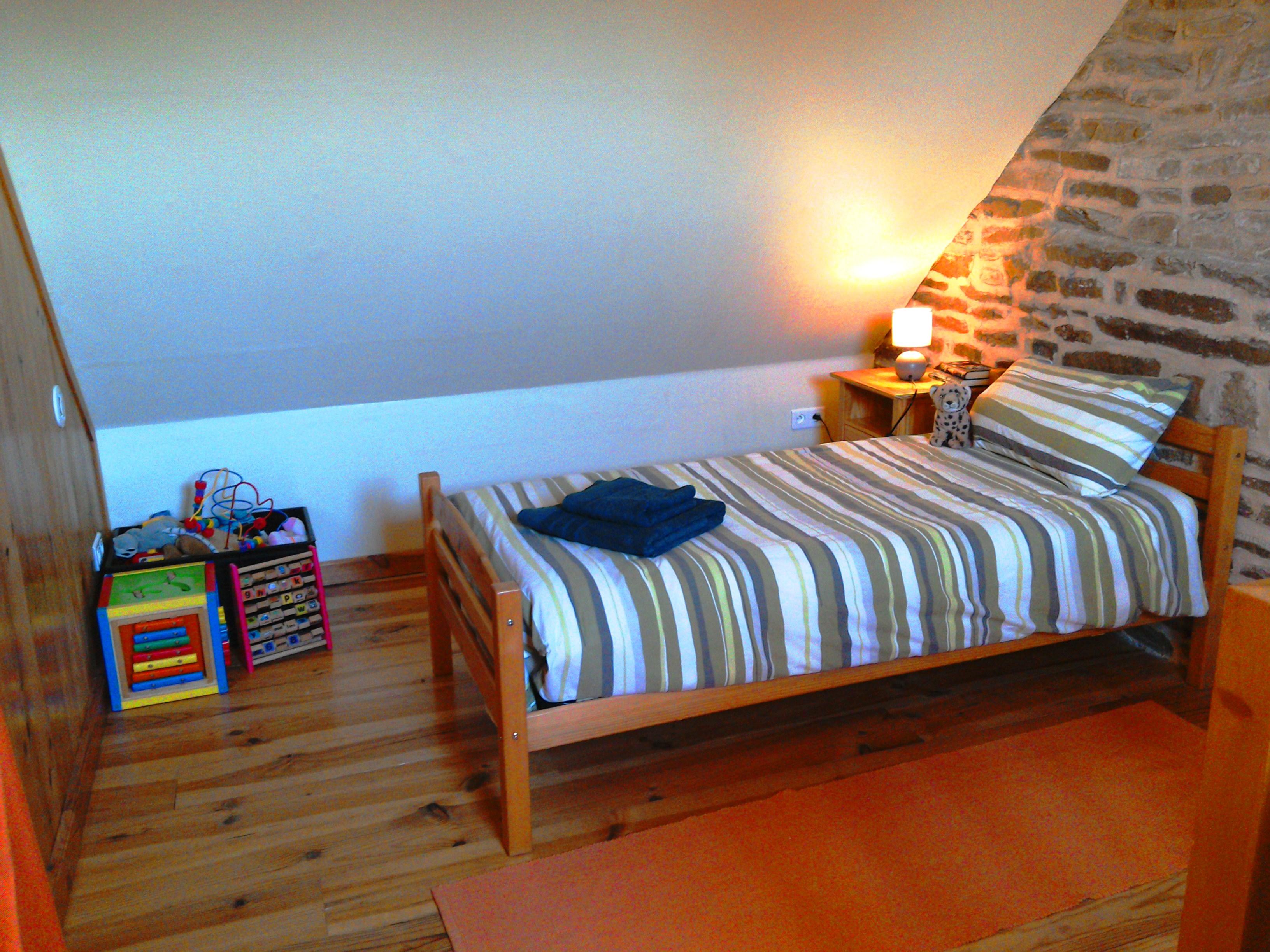 Mezzanine Bedroom at Eco-Gites of Lenault, NOrmandy
