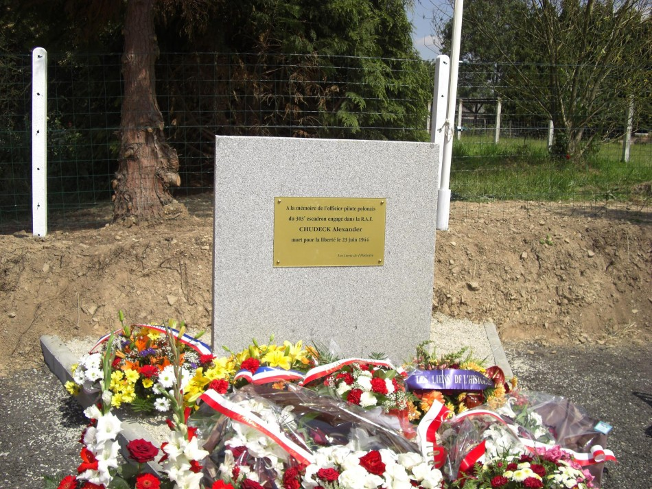 Polish War Memorial at Le Plessis-Grimoult, Normandy, France