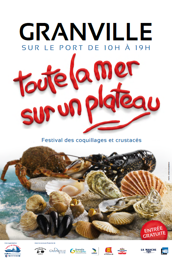 Seafood Festival in Granville, Normandy, France,