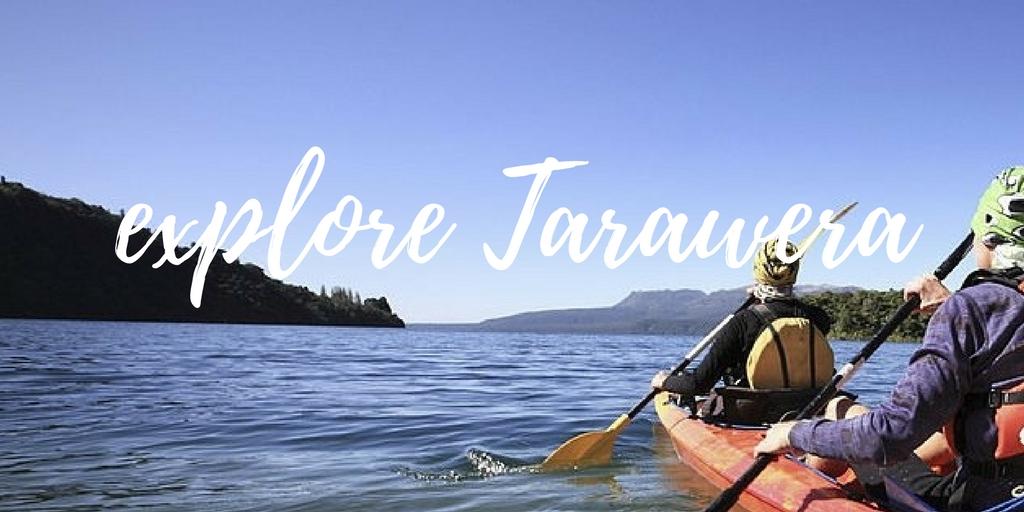 Kayaking on Lake Tarawera