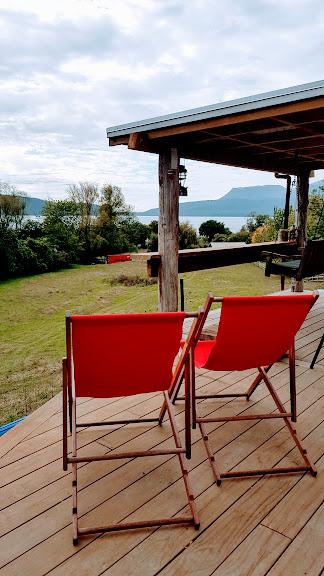 view from Jacks Hut glamping lake tarawera