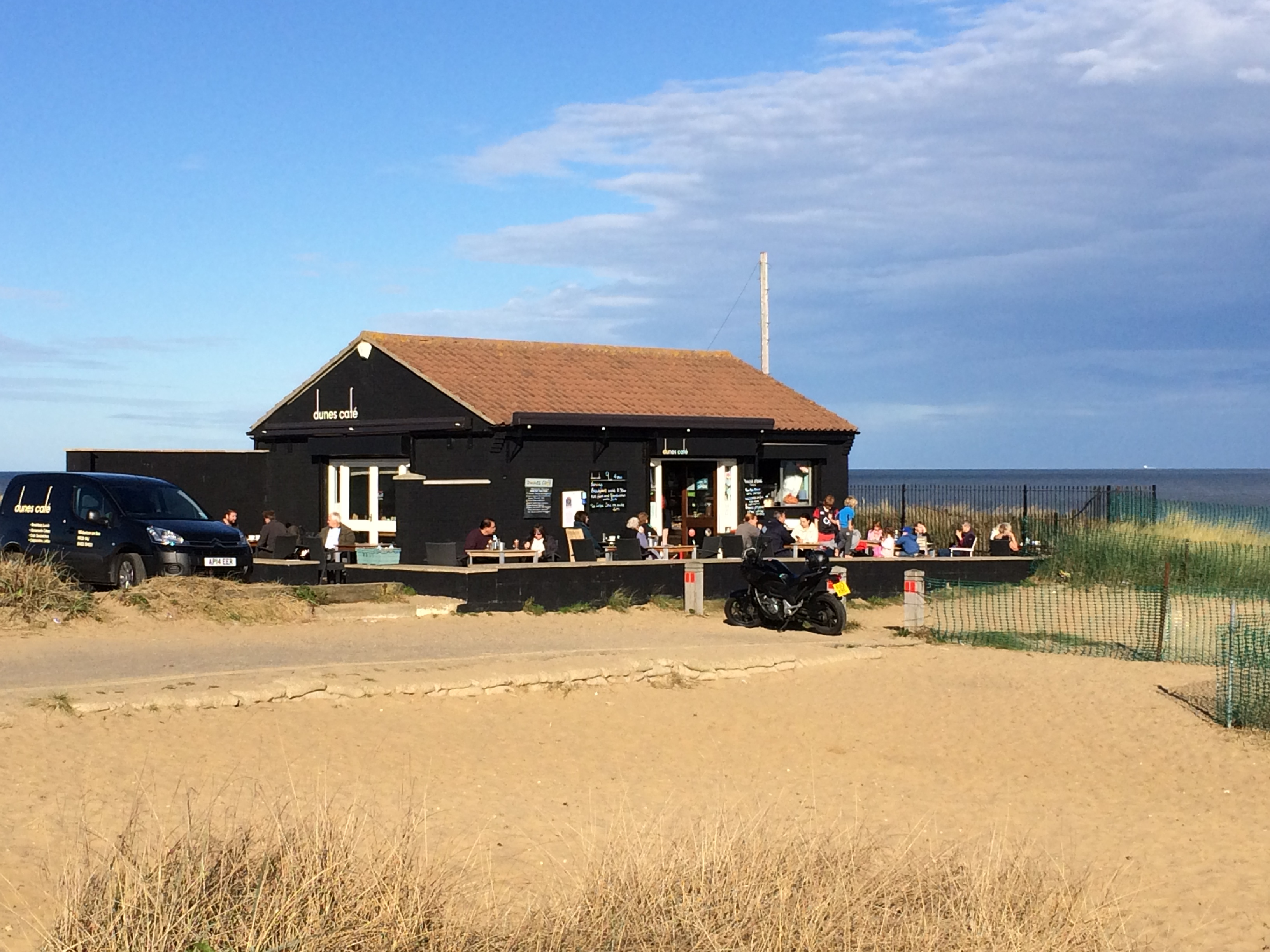 Dunes cafe on the beach at Winterton