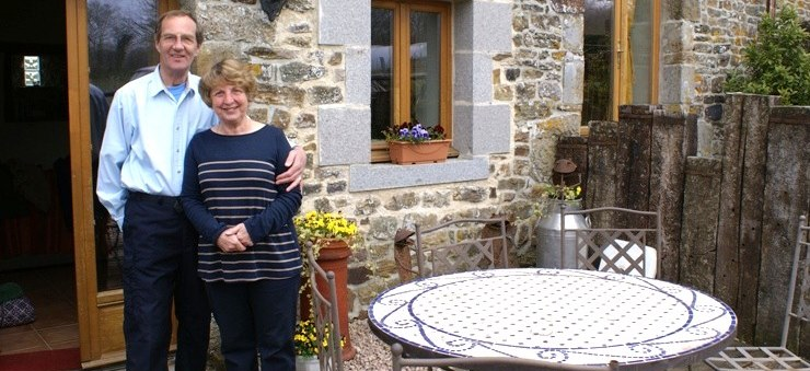 Couples welcoe at Eco-Gites of Lenault in Normandy, France