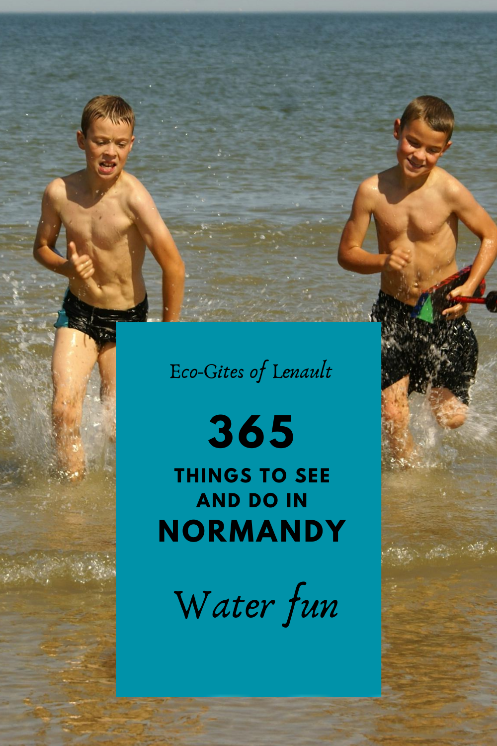 Water fun in Normandy, France