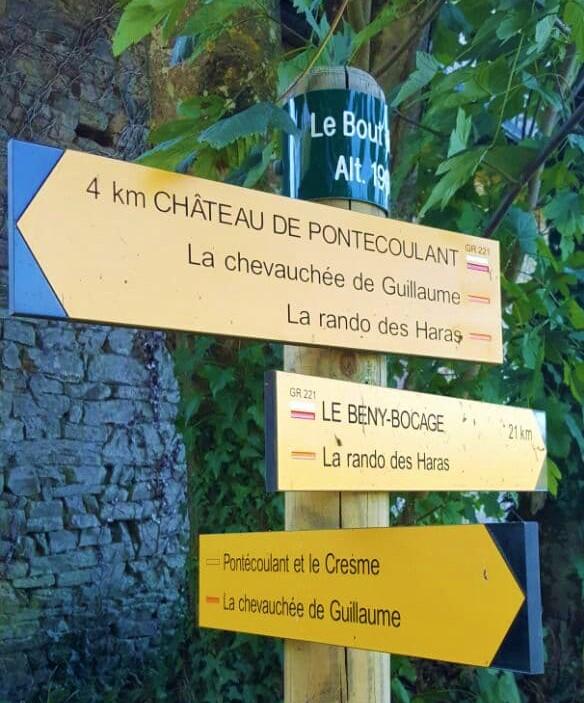 Le Bout de Là waymarker, Perigny, Calvados, Normandy