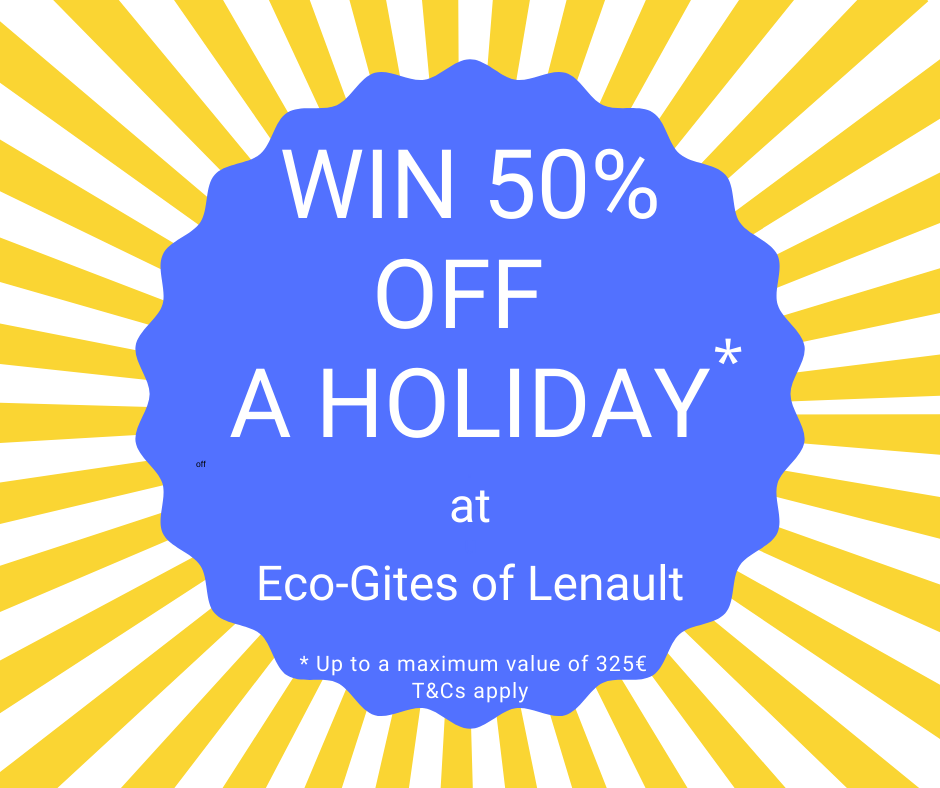 Cometion Time. Win 50% off a holiday to Eco-Gites of Lenault, Normandy, France