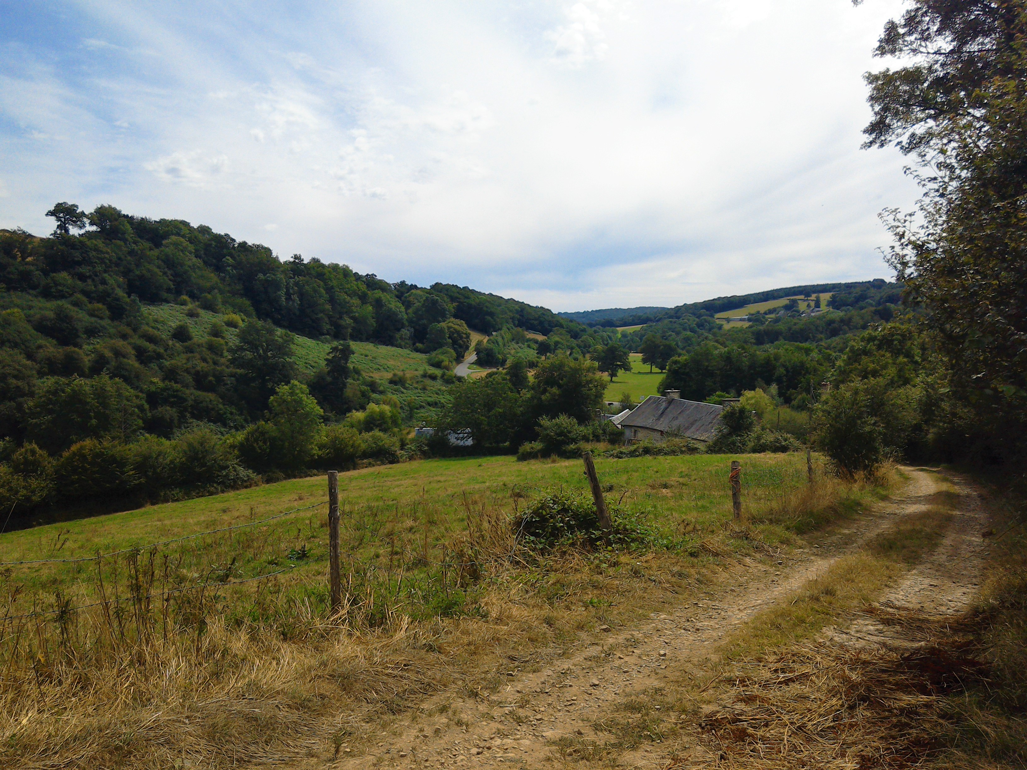 View over the Druance Valley, Normandy, France