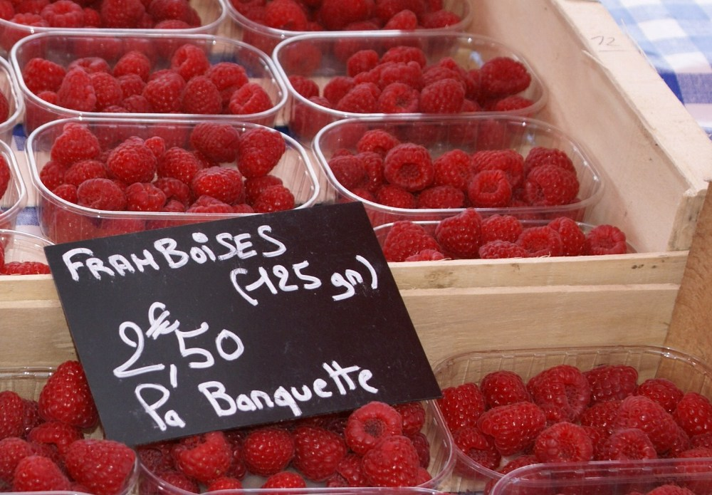 Raspberries / framboise an marché de Normandie