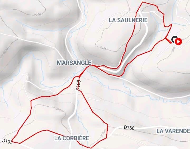 Route for the Saint Vigor-des-Mézerets walk