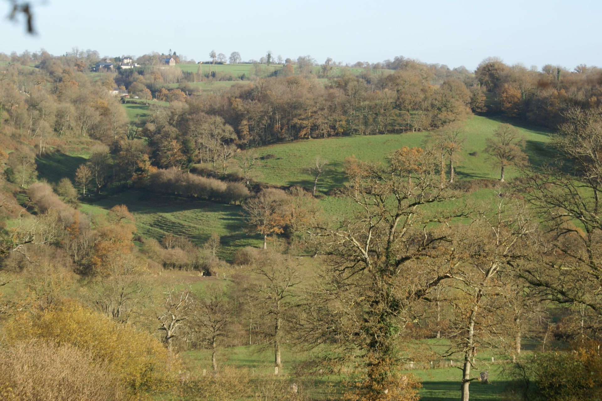 View towards Eco-Gites of Lenault, Normandy