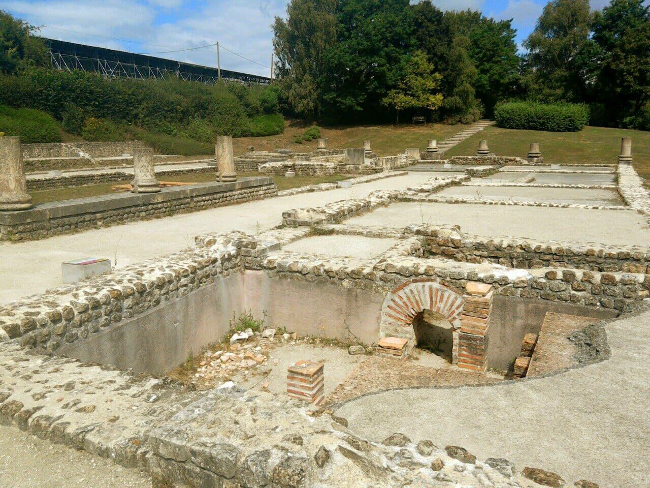 Vieux-la-Roamine, villa romaine au sud de Caen, Normandie
