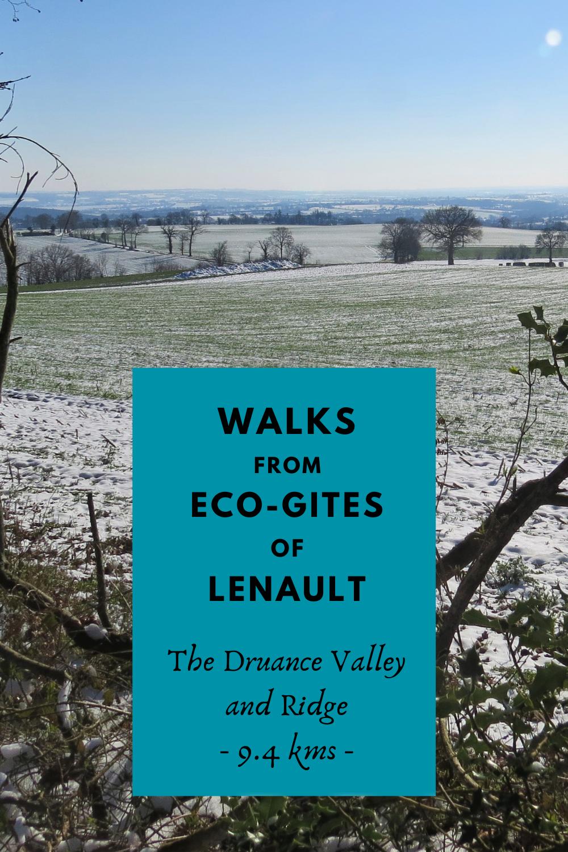 9.4km walk around teh Druance Valley, Normandy, France