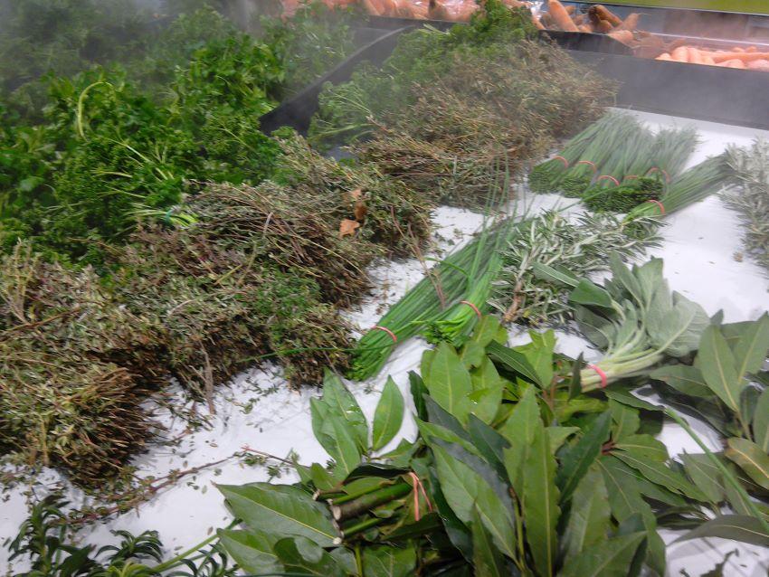 Zero waste herbs,  Grand Frais, Caen, Normandy