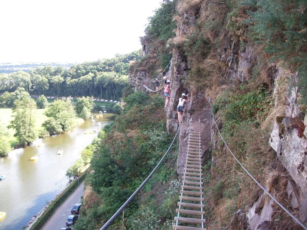 Via Ferrata cliffside walk at Clécy