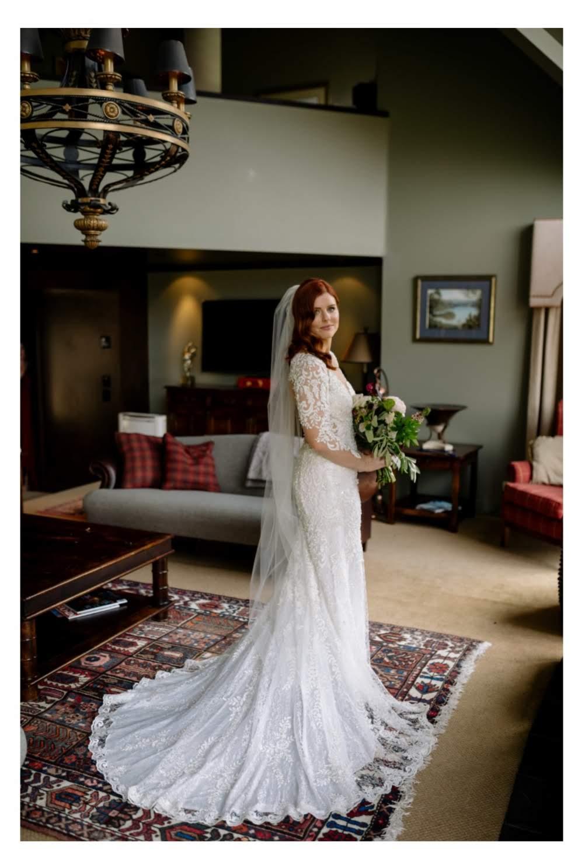 jess in wedding dress