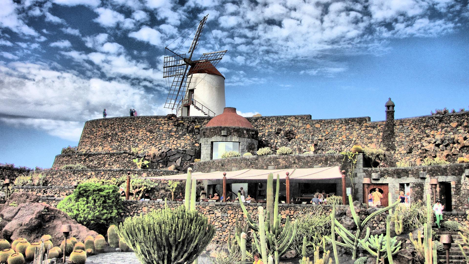 Windmill, Cactus Garden Lanzarote