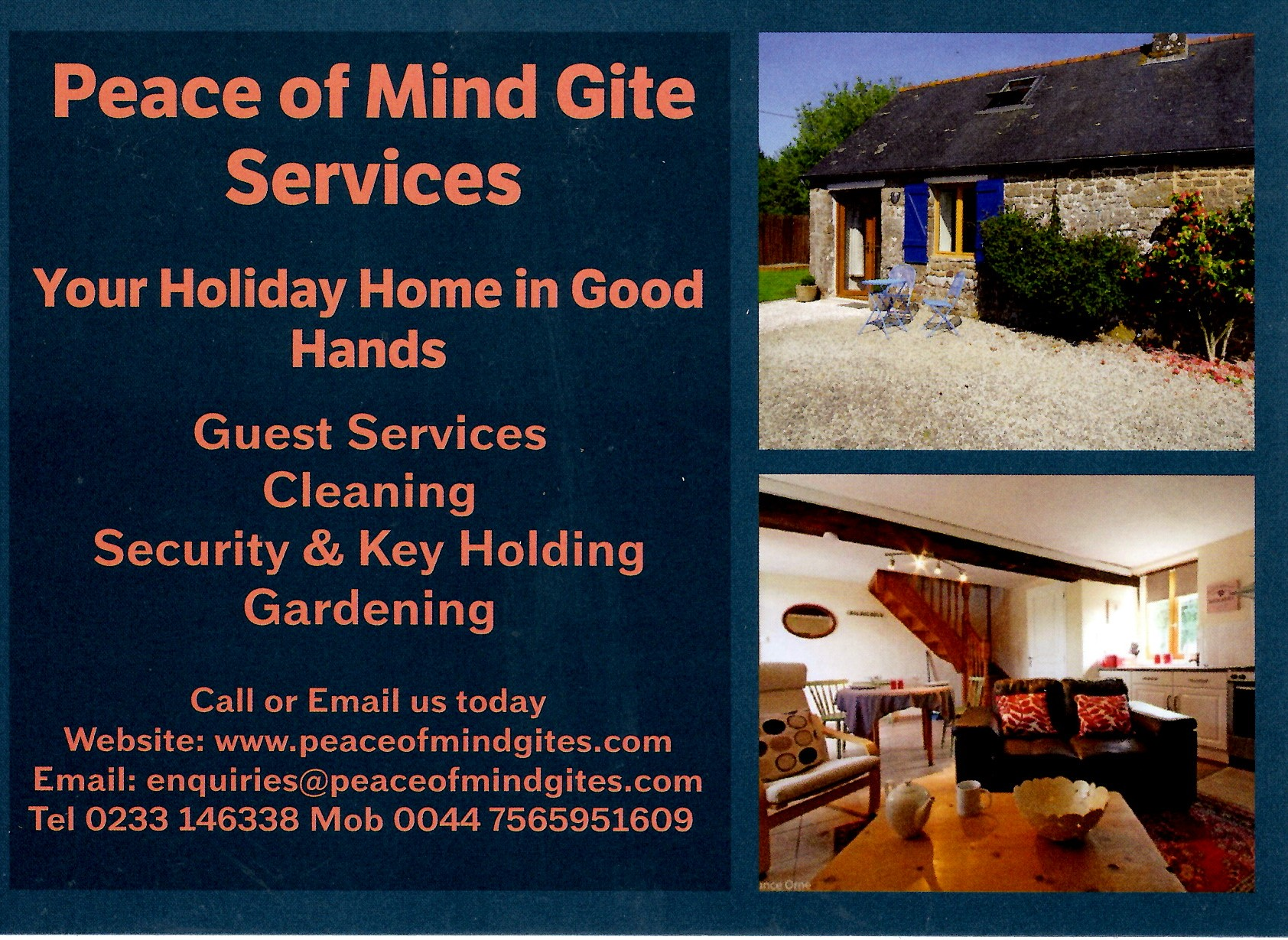 Peace of Mind Gite Services
