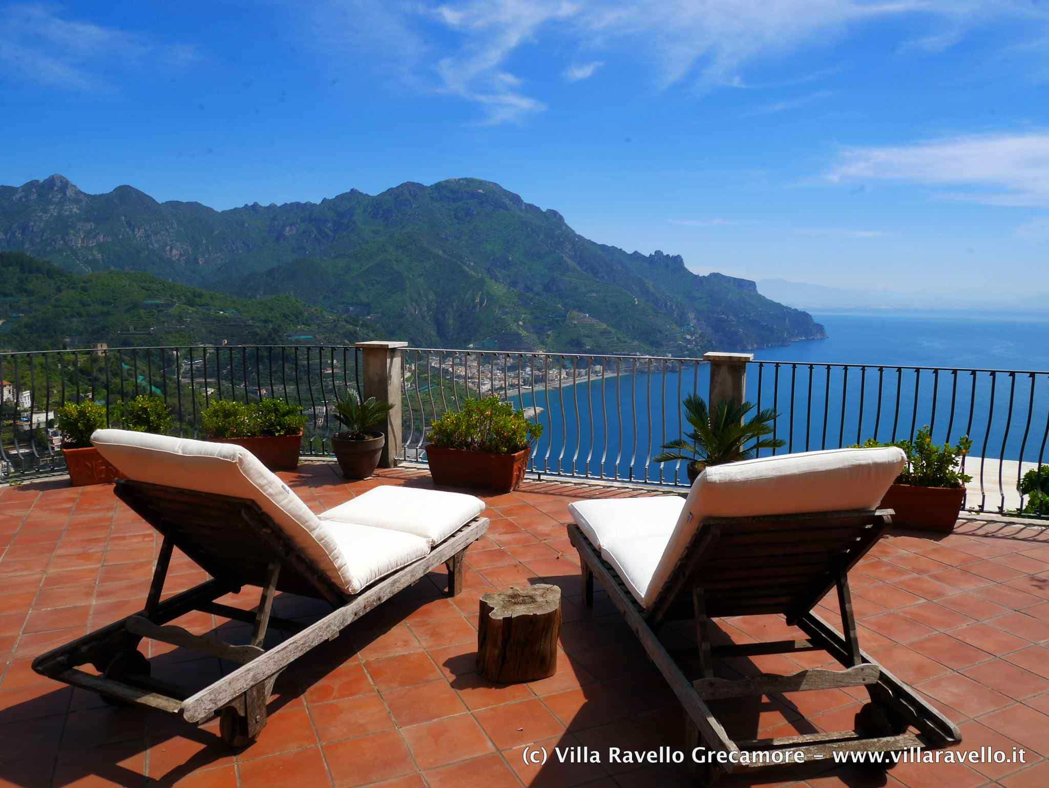 Villa Ravello Grecamore - relax on the terrace