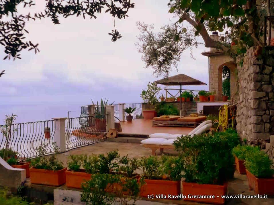 Villa Ravello Grecamore - terrace views