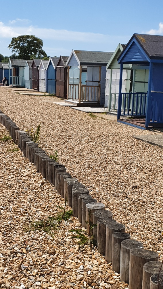 beach huts at calshot