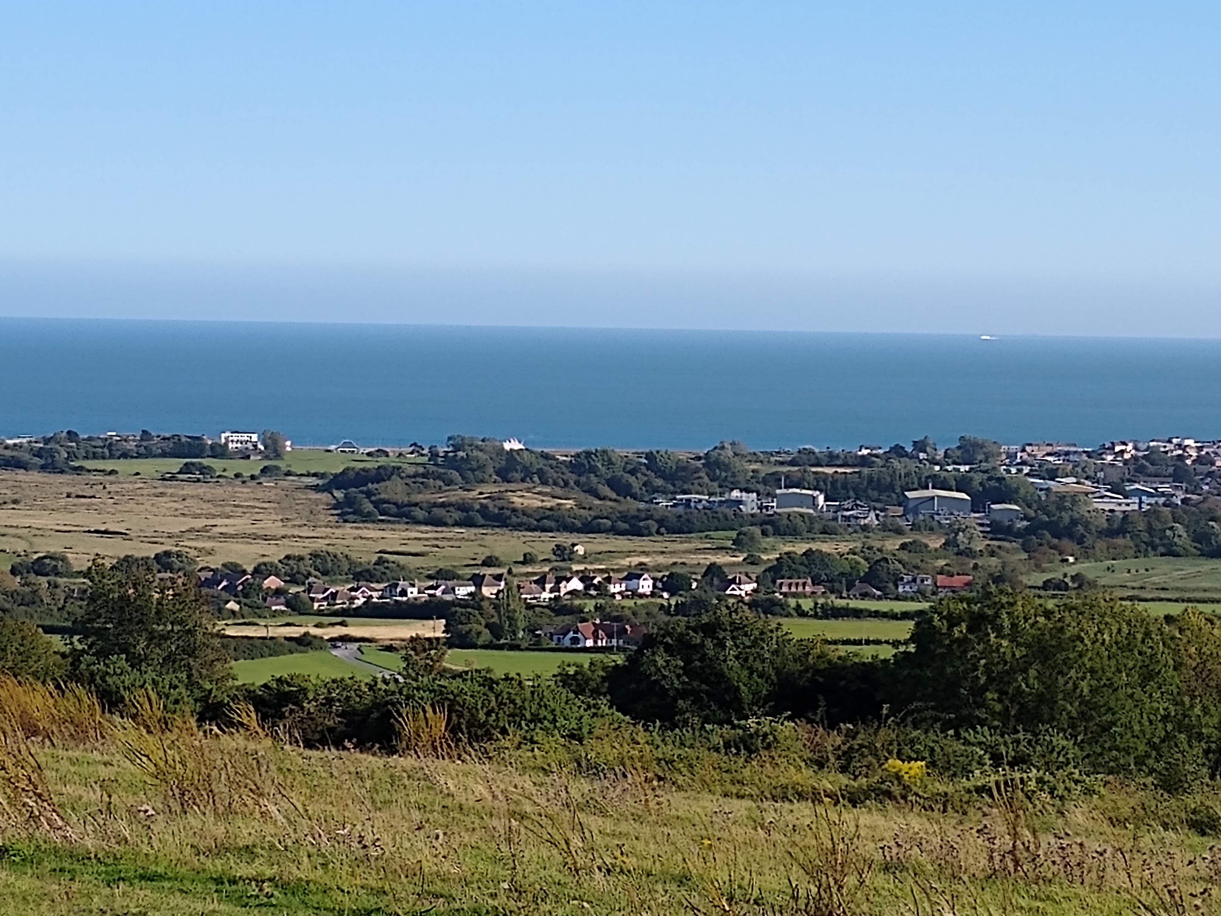 Views across the downs towards Bembridge