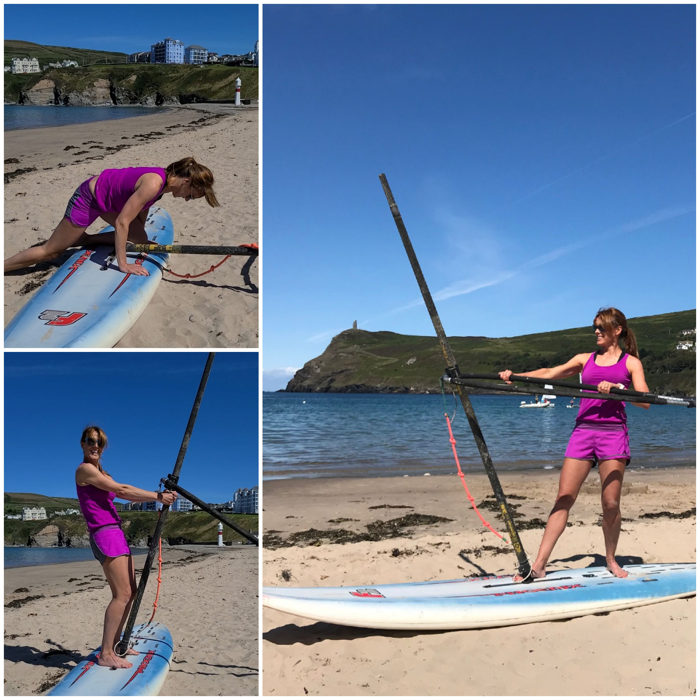 Learning to windsurf in Port Erin