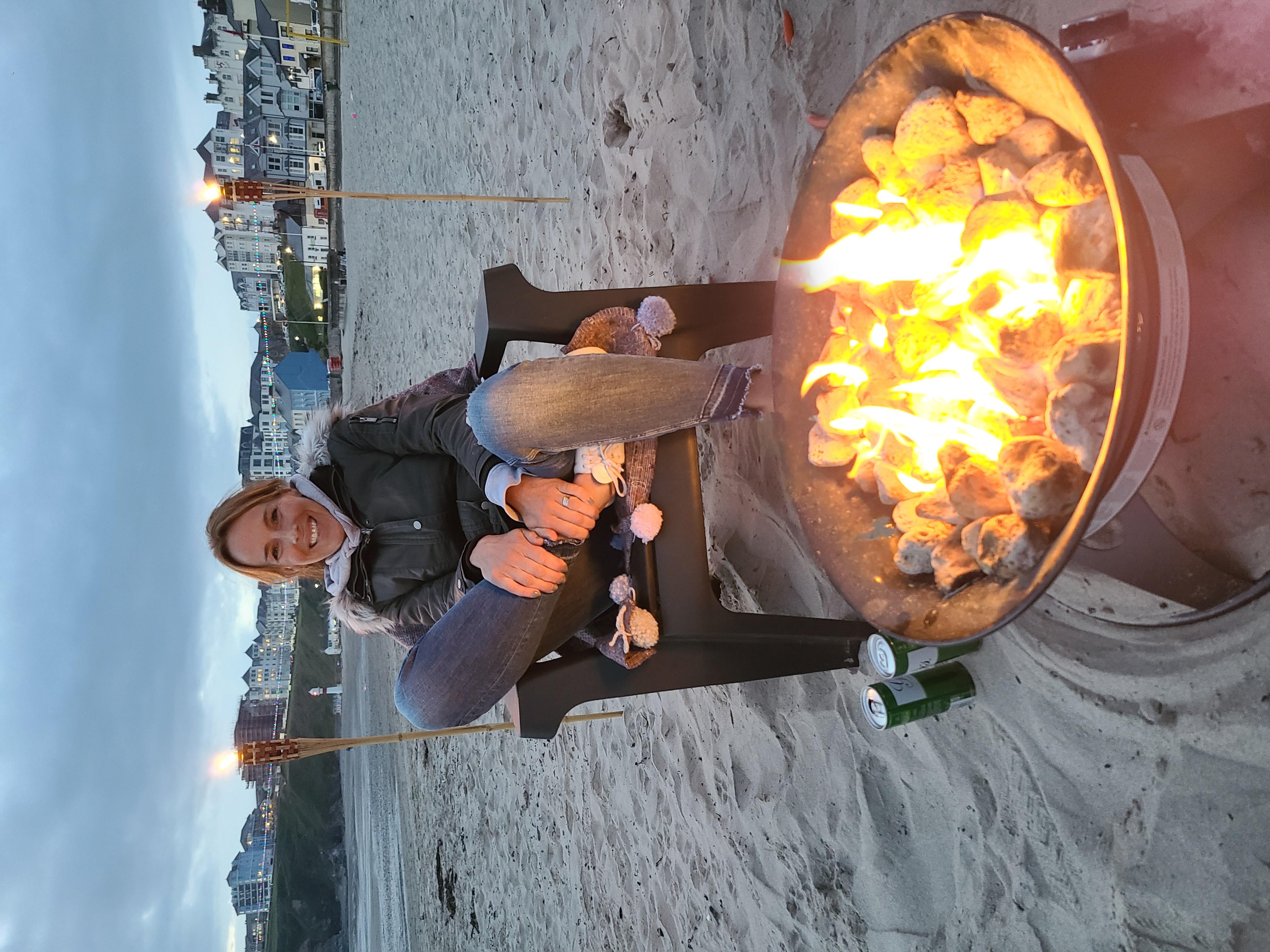 Campfire on Port Erin beach