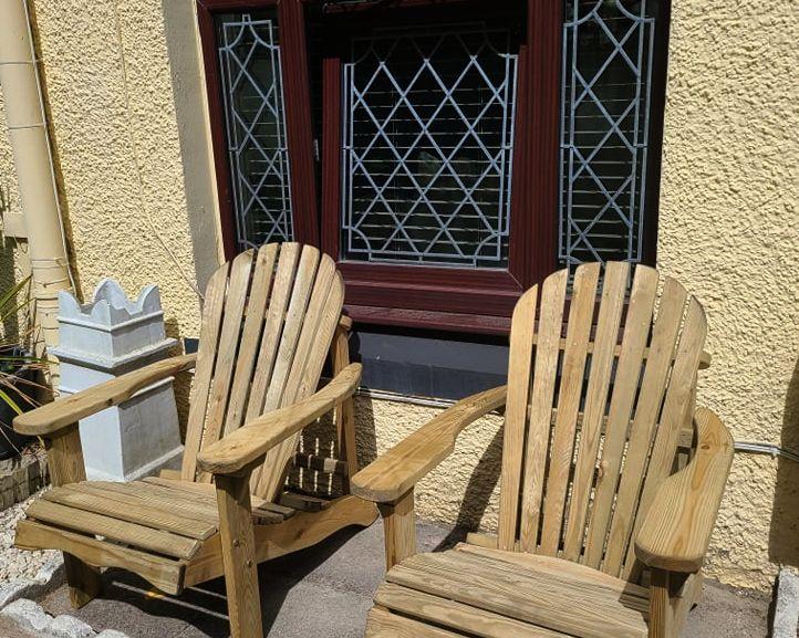 New seating area at palm Villa