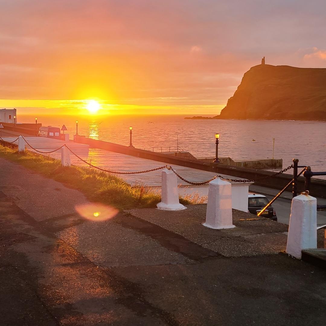 Sunset Port Erin Beach