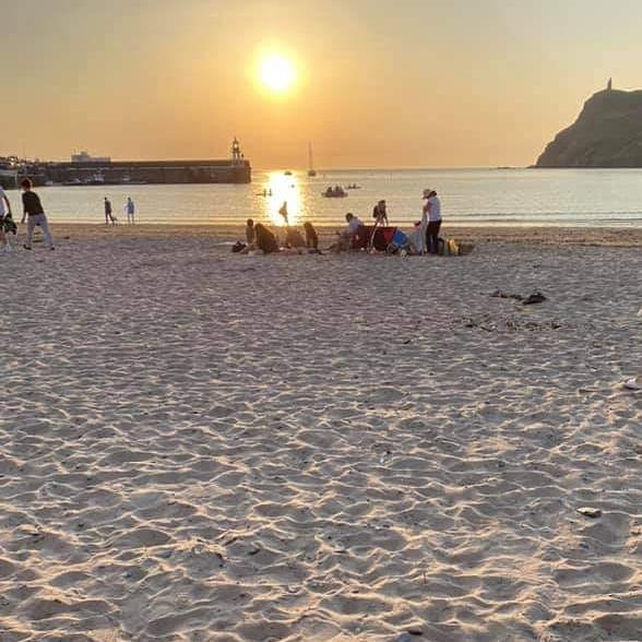 Sunset on Port Erin beach