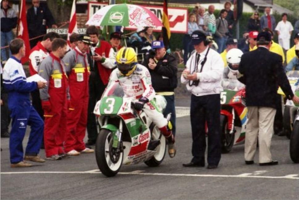 Joey Dunlop on the Isle of Man TT Start Line