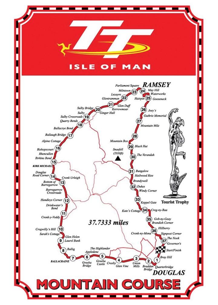 Isle of Man TT Shop Map