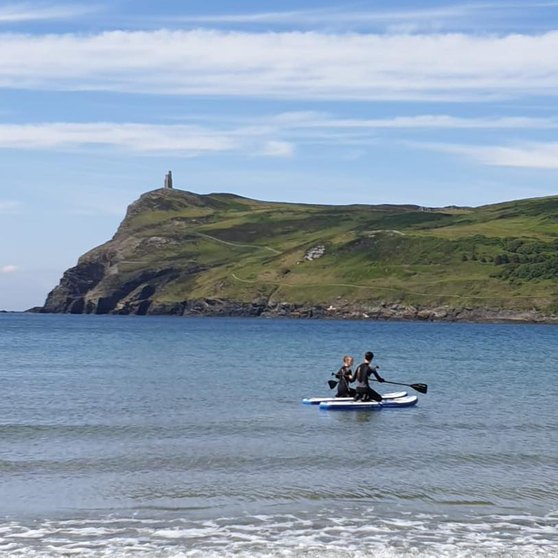 Paddle boarding in the Isle of Man
