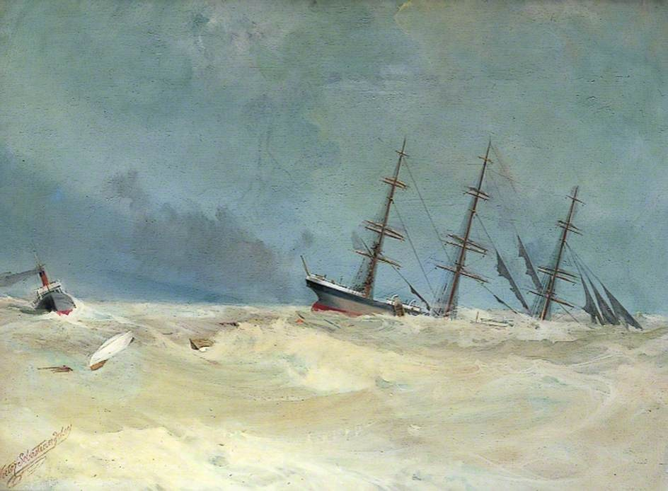 The sinking of the Bienvue