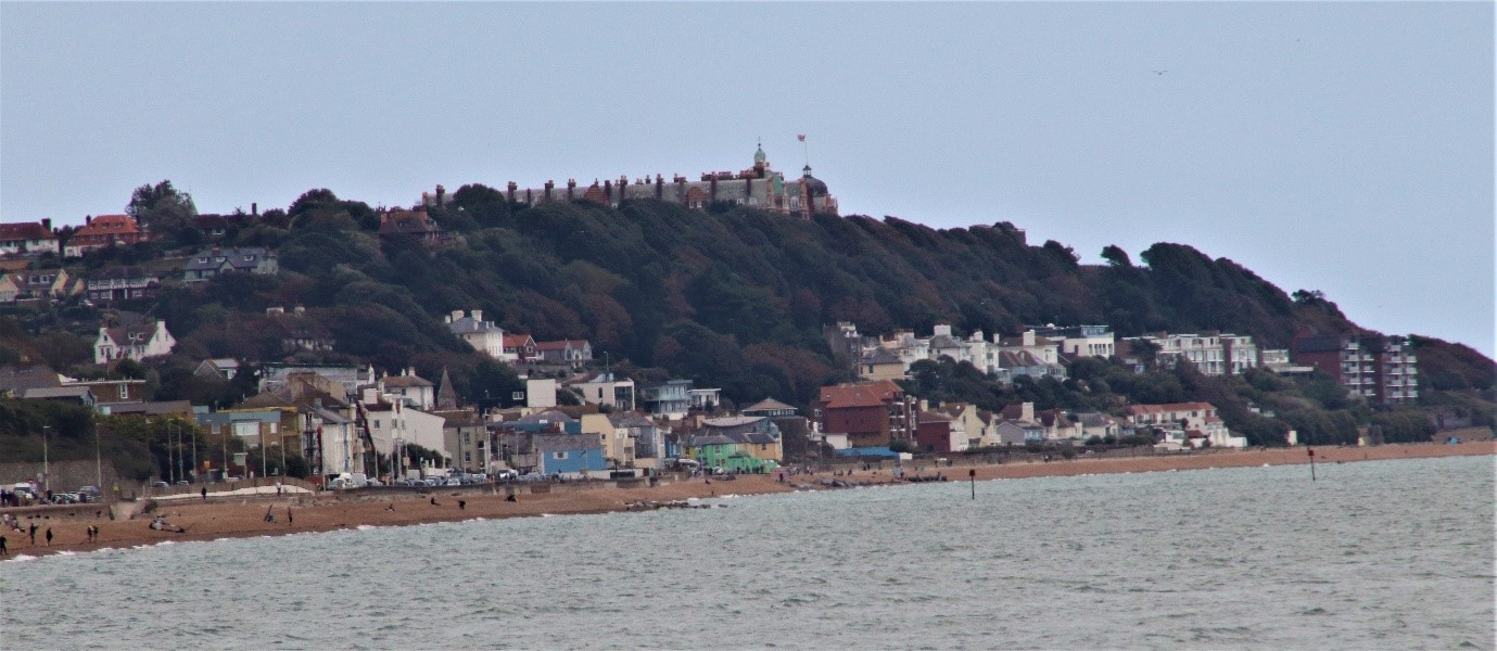 View from Hythe across the bay to Sandgate