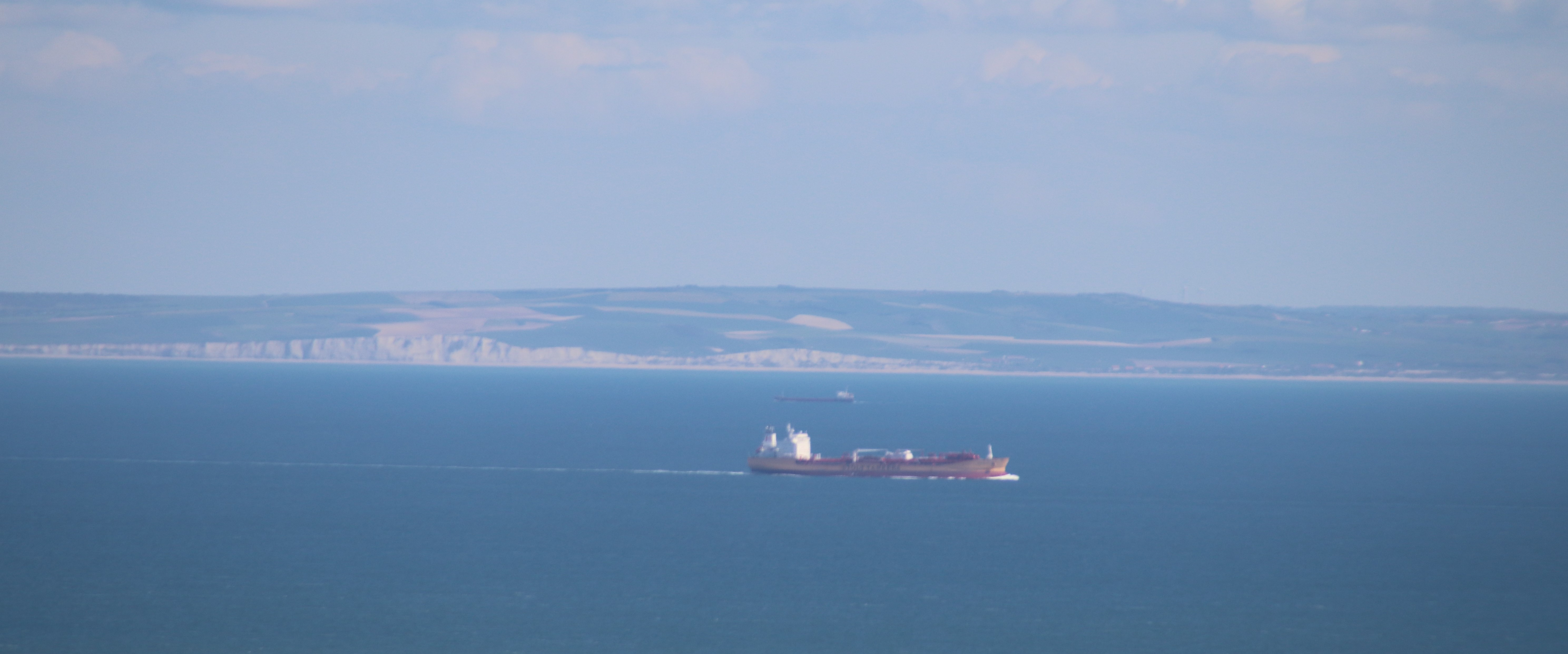 France across one of the worlds busiest shipping lane