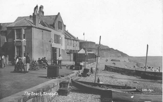 Sandgate Beach & Castle around 1900